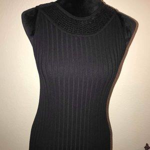 Kenar Sequin Black Top Size M
